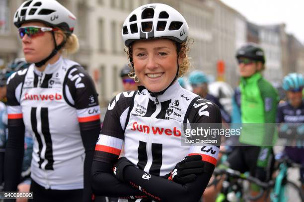 Start / Floortje Mackaij of Netherlands / during the 15th Tour of Flanders 2018 Ronde Van Vlaanderen a 1509km women's race from Oudenaarde to...