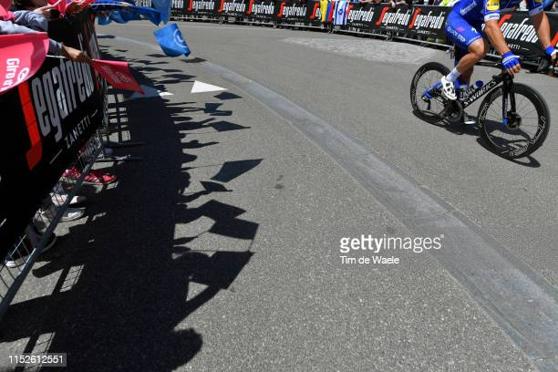 Start / Florian Senechal of France and Team Deceuninck - Quick-Step / Valdaora Village / Fans / Public / Shadow / Detail view / during the 102nd Giro...