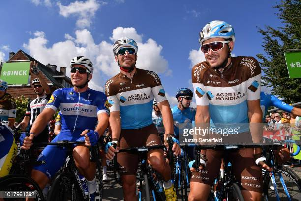 Start / Florian Senechal of France and Team Quick Step Floors / Rudy Barbier of France and Team AG2R La Mondiale / Alexis Gougeard of France and Team...
