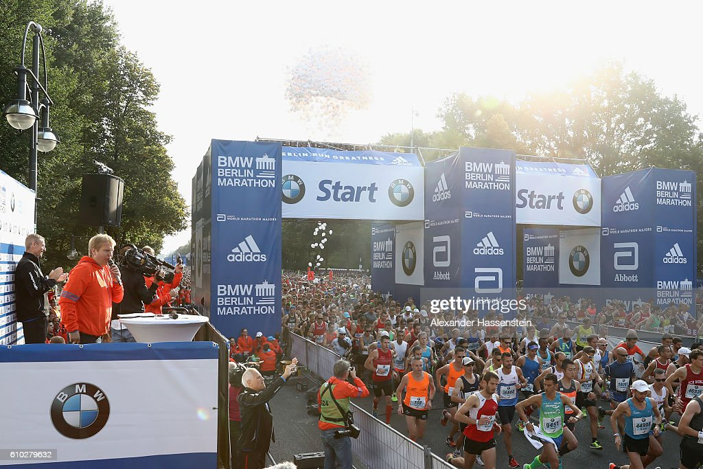 Start for the 43. BMW Berlin Marathon on September 25, 2016 in Berlin, Germany.