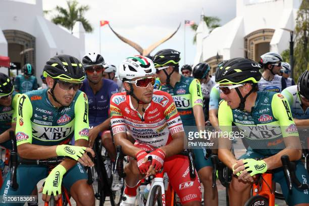 Start / Francesco Manuel Bongiorno of Italy and Team Vini Zabù - KTM / Luca Pacioni of Italy and Team Androni Giocattoli - Sidermec / Lorenzo...