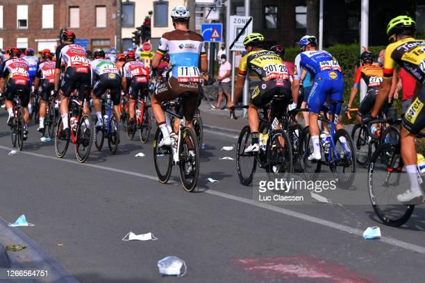 Start / Frederik Frison of Belgium and Team Lotto Soudal / Sam Bennett of Ireland and Team Deceuninck - Quick-Step / Oliver Naesen of Belgium and...