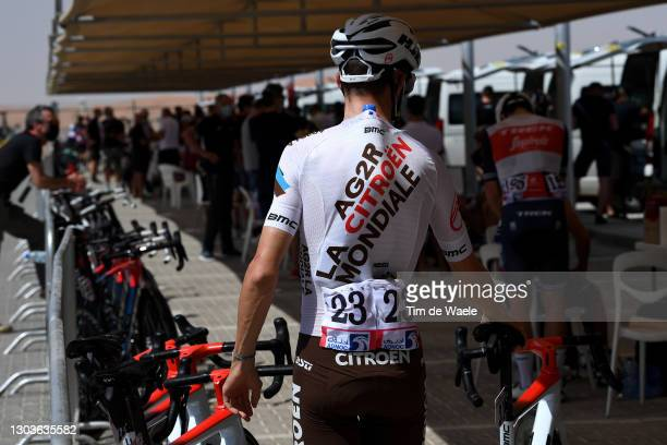 Start / Geoffrey Bouchard of France and AG2R Citroën Team during the 3rd UAE Tour 2021, Stage 3 a 166km stage from Al Ain - Strata Manufacturing to...