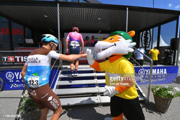 Start / Geoffrey Bouchard of France and Team AG2R La Mondiale / Mascot / Flamatt City / during the 83rd Tour of Switzerland, Stage 3 a 162,3km stage...
