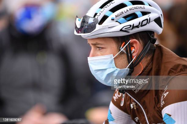Start / Geoffrey Bouchard of France and Team Ag2R La Mondiale / Mask / Covid safety measures / during the 103rd Giro d'Italia 2020, Stage 18 a 207km...