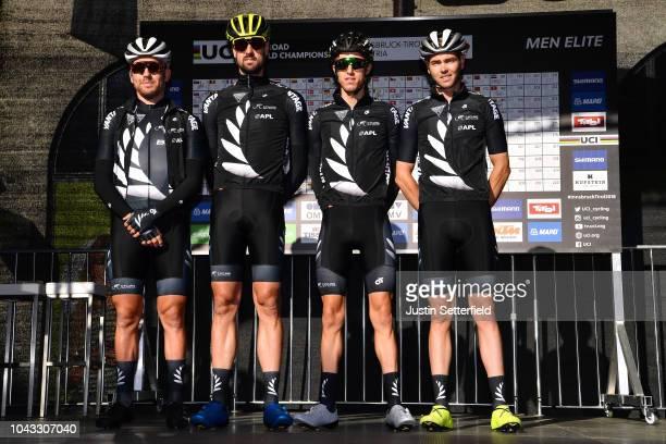 Start / George Bennett of New Zealand / Patrick Bevin of New Zealand / Sam Bewley of New Zealand / Dion Smith of New Zealand / during the Men Elite...