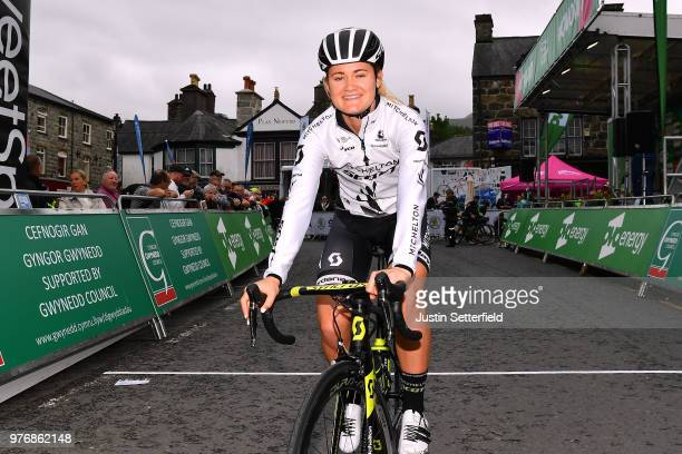 Start / Georgia Williams of Australia and Team MitcheltonScott / during the 5th OVO Energy Women's Tour 2018 Stage 5 a 122km stage from Dolgellau to...