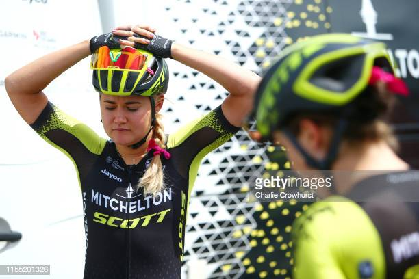 Start / Georgia Williams of New Zealand and Team Mitchelton SCOTT / Pink Ribbon / during the 6th OVO Energy Women's Tour 2019 Stage 2 a 625km stage...