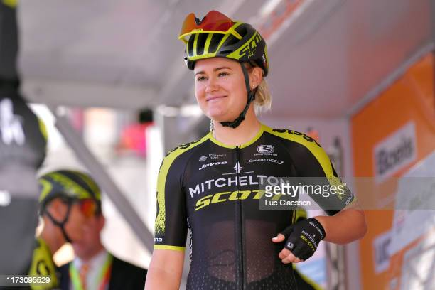 Start / Georgia Williams of New Zealand and Team Mitchelton Scott / Team Presentation / during the 22nd Boels Rental Ladies Tour 2019 Stage 5 a...