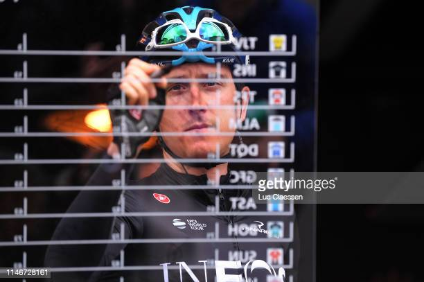 Start / Geraint Thomas of Great Britain and Team INEOS / 1Signature / during the 73rd Tour de Romandie 2019 Stage 3 a 160km stage from Romont to...
