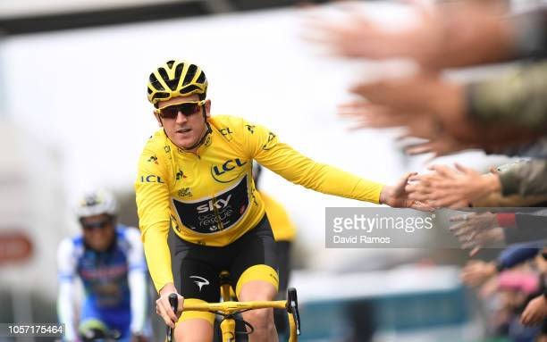 Start / Geraint Thomas of Great Britain and Team Sky Yellow Leader Jersey / Fans / Public / during the 6th Tour de France Saitama Criterium 2018 a...