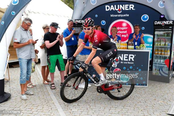 Start / Geraint Thomas of United Kingdom and Team INEOS / during the 34th Deutschland Tour 2019 Stage 4 a 1599km stage from Eisenach to Erfurt /...