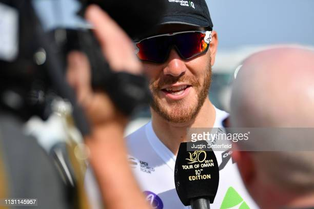 Start / Giacomo Nizzolo of Italy and Team Dimension Data / Press Media / during the 10th Tour of Oman 2019, Stage 6 a 135,5km stage to Al Mouj Muscat...