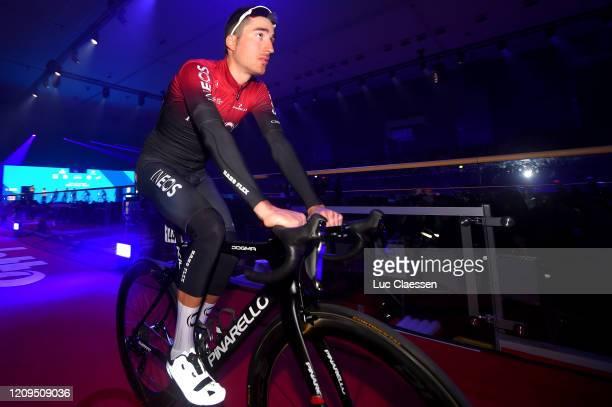Start / Gianni Moscon of Italy and Team INEOS / Kuipke Velodrome / Team Presentation / during the 75th Omloop Het Nieuwsblad 2020 Men Race a 200km...