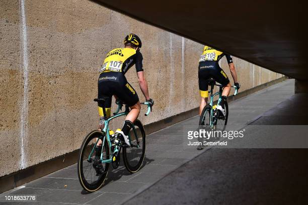 Start / Gijs Van Hoecke of Belgium and Team Lotto Nl - Jumbo / during the 14th BinckBank Tour 2018, Stage 6 a 182,2km stage from Riemst to...