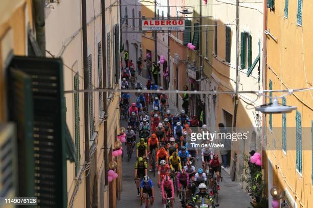 Start / Giulio Ciccone of Italy and Team Trek - Segafredo Blue Mountain Jersey / Primoz Roglic of Slovenia and Team Jumbo - Visma Pink Leader Jersey...
