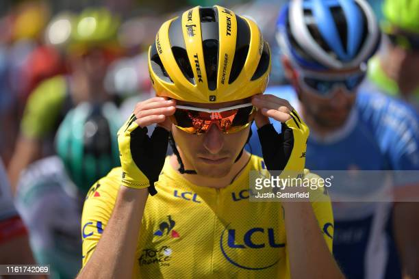 Start / Giulio Ciccone of Italy and Team Trek-Segafredo Yellow Leader Jersey / Mâcon City / during the 106th Tour de France 2019, Stage 8 a 200km...