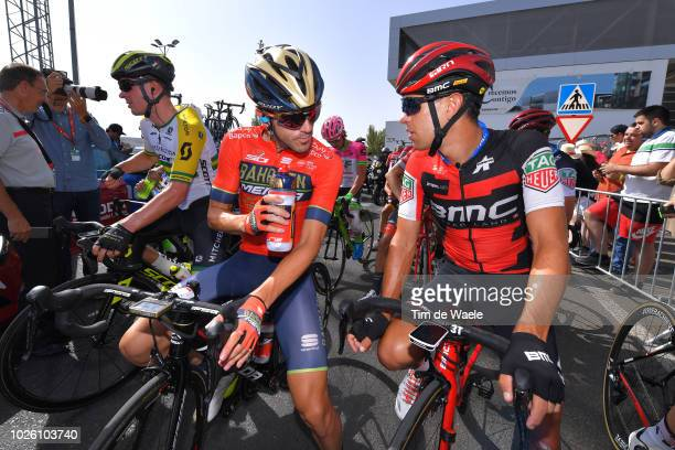 Start / Gorka Izagirre of Spain and Bahrain Merida Pro Cycling Team / Richie Porte of Australia and BMC Racing Team / during the 73rd Tour of Spain...