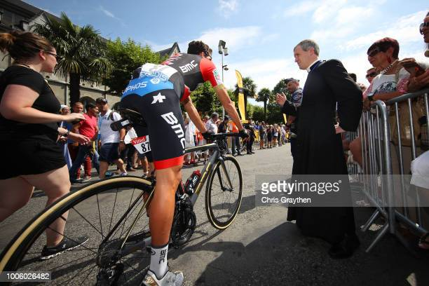 Start / Greg Van Avermaet of Belgium and BMC Racing Team / Priest / during the 105th Tour de France 2018, Stage 19 a 200,5km stage from Lourdes to...