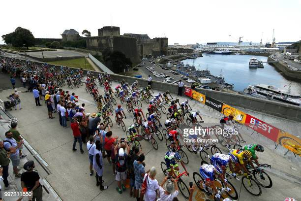 Start / Greg Van Avermaet of Belgium and BMC Racing Team Yellow Leader Jersey / Peloton / Landscape / during 105th Tour de France 2018, Stage 6 a...