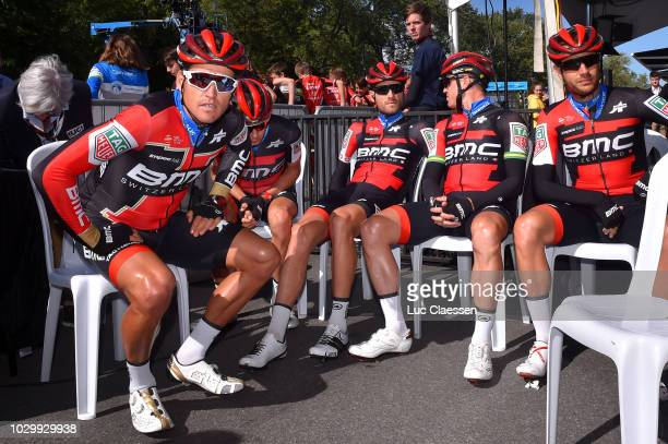 Start / Greg Van Avermaet of Belgium / Kilian Frankiny of Switzerland / Damiano Caruso of Italy / Simon Gerrans of Australia / Michael Schar of...