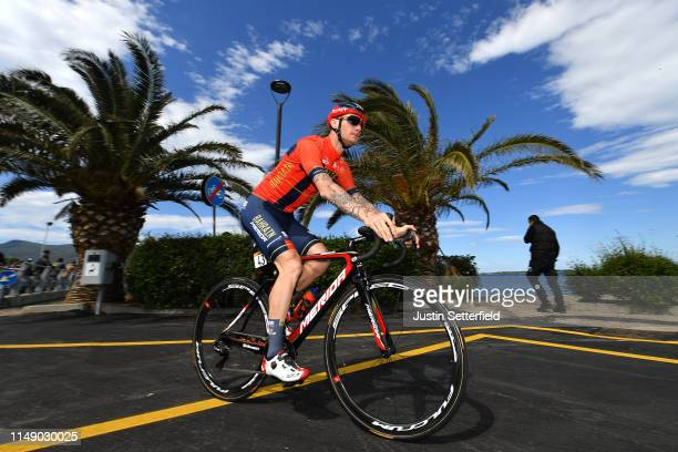Start / Grega Bole of Slovenia and Team Bahrain - Merida / during the 102nd Giro d'Italia 2019, Stage 4 a 235km stage from Orbetello to Frascati 319m...