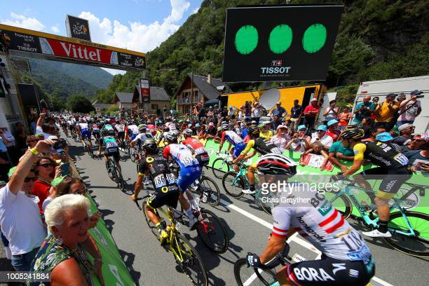 Start / Gregor Muhlberger of Austria and Team Bora Hansgrohe / Fabien Grellier of France and Team Direct Energie / Arnaud Demare of France and Team...