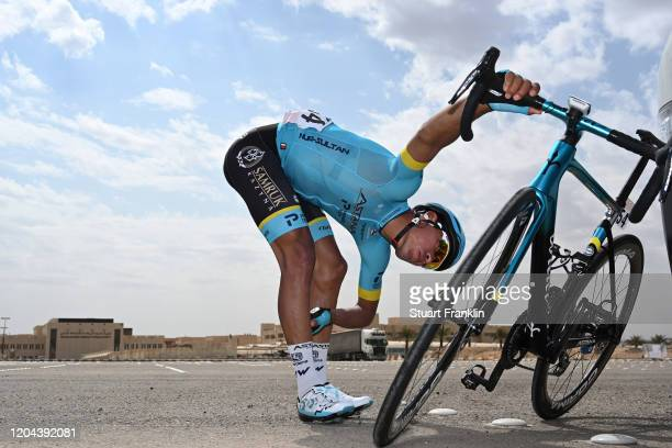 Start / Hernando Bohorquez Sanchez of Colombia and Astana Pro Team / Wilier Triestina 0 SLR Bike / King Saud University / during the 1st Saudi Tour...