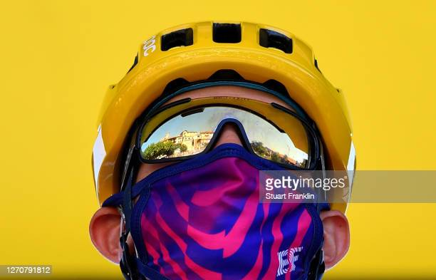 Start / Hugh Carthy of The United Kingdom and Team EF Pro Cycling / Mask / Covid Safety Measures / during the 107th Tour de France 2020, Stage 8 a...