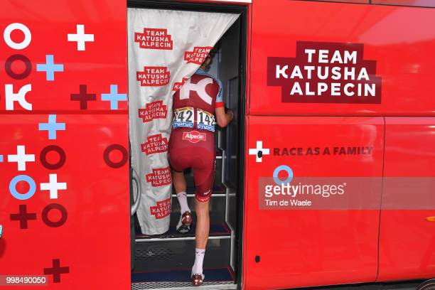 Start / Ian Boswell of The United States and Team Katusha / Bus / during the 105th Tour de France 2018 Stage 8 a 181km stage from Dreux to Amiens...