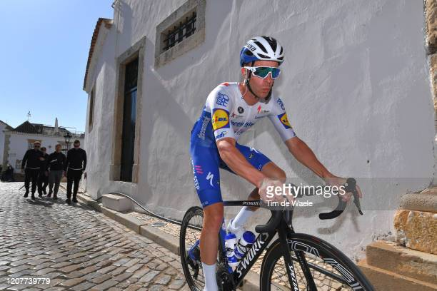 Start / Iljo Keisse of Belgium and Team Deceuninck - Quick Step / Faro Village / during the 46th Volta ao Algarve 2020, Stage 3 a 201,9Km stage from...