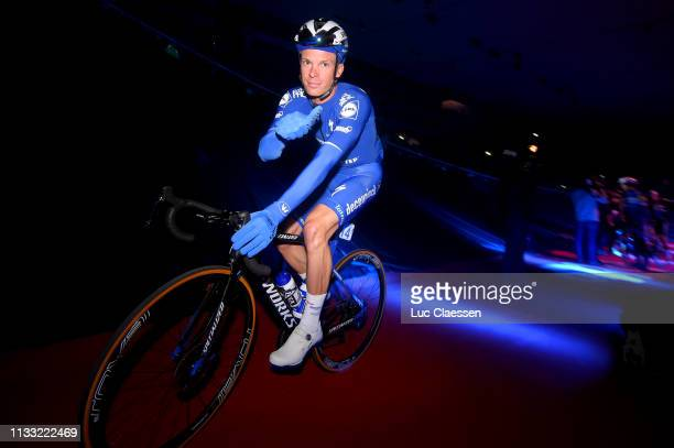 Start / Iljo Keisse of Belgium and Team Deceuninck Quick-Step / Team Presentation / Kuipke Track Velodrome / during the 74th Omloop Het Nieuwsblad...