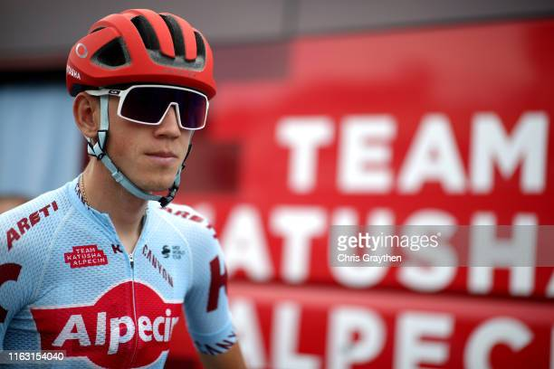 Start / Ilnur Zakarin of Rusia and Team Katusha-Alpecin / during the 106th Tour de France 2019, Stage 14 a 117km stage from Tarbes to Tourmalet...