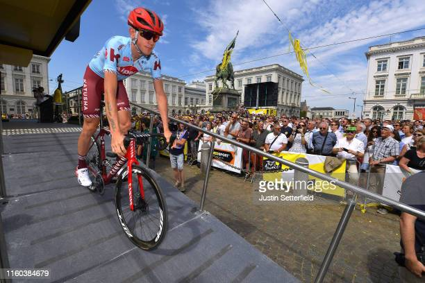 Start / Ilnur Zakarin of Rusia and Team Katusha-Alpecin / Place Royal / Brussels City / during the 106th Tour de France 2019, Stage 1 a 194,5km stage...