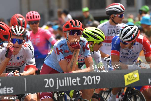 Start / Ilnur Zakarin of Rusia and Team Katusha-Alpecin / Tarbes City / Fans / Public / during the 106th Tour de France 2019, Stage 14 a 117km stage...