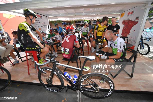 Start / Jack Haig of Australia and Team MitcheltonScott / Michal Kwiatkowski of Poland and Team Sky / Ian Boswell of The United States and Team...