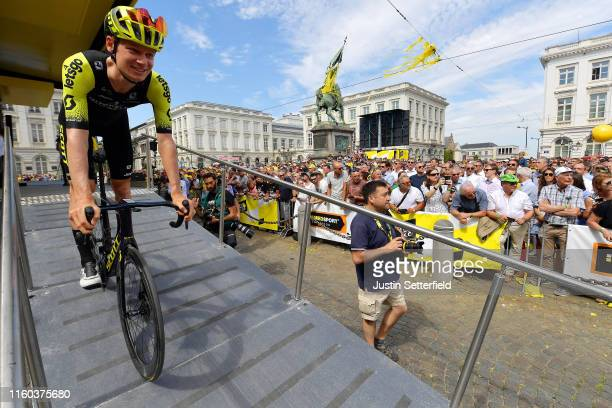 Start / Jack Haig of Australia and Team Mitchelton-Scott / Statue of Godfrey of Bouillon at the King's Square / Place Royal / Brussels City / Public...