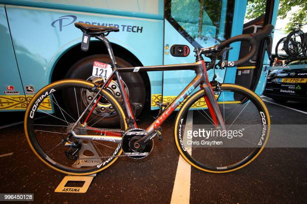 Start / Jakob Fuglsang of Denmark and Astana Pro Team / Argon Bike / Detail View / during stage five of the 105th Tour de France 2018 a 2045km stage...