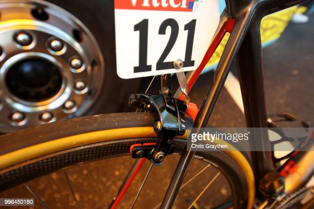 Start / Jakob Fuglsang of Denmark and Astana Pro Team / Brake / Argon Bike / Detail View / during stage five of the 105th Tour de France 2018 a...