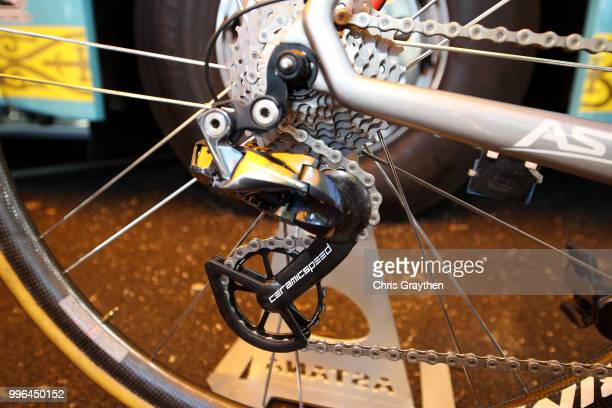 Start / Jakob Fuglsang of Denmark and Astana Pro Team / Derailleur Pulley / Argon Bike / Detail View / during stage five of the 105th Tour de France...