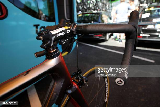 Start / Jakob Fuglsang of Denmark and Astana Pro Team / Handlebars / Argon Bike / Detail View / during stage five of the 105th Tour de France 2018 a...