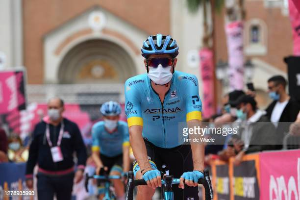 Start / Jakob Fuglsang of Denmark and Astana Pro Team / Mask / Covid safety measures / Team Presentation / Public / Fans / during the 103rd Giro...