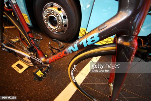 Start / Jakob Fuglsang of Denmark and Astana Pro Team / Pedal / Tacx Bottle Support / Argon Bike / Detail View / during stage five of the 105th Tour...