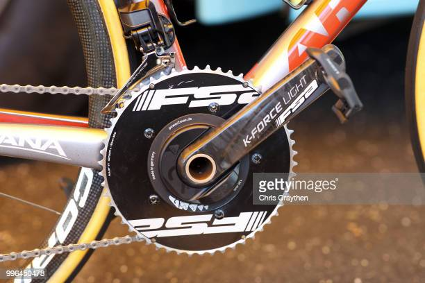 Start / Jakob Fuglsang of Denmark and Astana Pro Team / Power Max Crankset / Argon Bike / Detail View / during stage five of the 105th Tour de France...