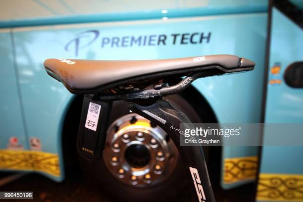 Start / Jakob Fuglsang of Denmark and Astana Pro Team / Saddle / Argon Bike / Detail View / during stage five of the 105th Tour de France 2018 a...
