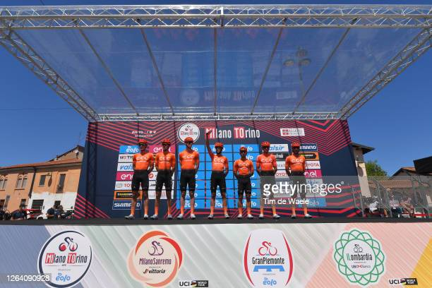 Start / Jakub Mareczko of Italy, Alessandro De Marchi of Italy, Pavel Kochetkov of Russia, Jonas Koch of Germany, Gijs Van Hoecke of Belgium, Nathan...