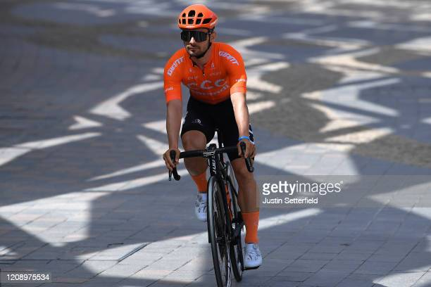 Start / Jakub Mareczko of Italy and CCC Team / during the 6th UAE Tour 2020, Stage 5 a 162km stage from Al Ain to Jebel Hafeet 1033m / #UCIWT /...