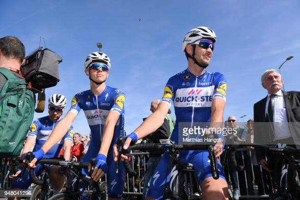 Start / James Knox of Great Britain and Team QuickStep Floors / Pieter Serry of Belgium and Team QuickStep Floors / during the 82nd La Fleche...