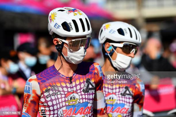 Start / James Whelan of Australia and Team EF Pro Cycling / Team Presentation / during the 103rd Giro d'Italia 2020, Stage Eleven a 182 km stage from...
