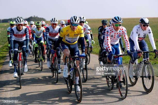 Start / Jasper Stuyven of Belgium and Team Trek - Segafredo, Edward Theuns of Belgium and Team Trek - Segafredo, Sam Bennett of Ireland and Team...